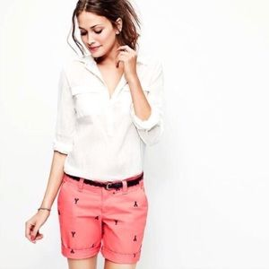 Lobster Pattern Coral Pink Bermuda Shorts Old Navy